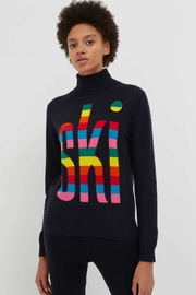 Chinti & Parker Rainbow Ski Rollneck - Front cropped