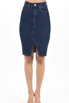 Shoptiques Product: Front-Slit Denim Skirt
