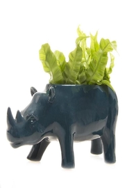 Chive Rhino Planter - Front full body