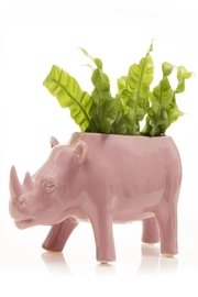 Chive Rhino Planter - Front cropped