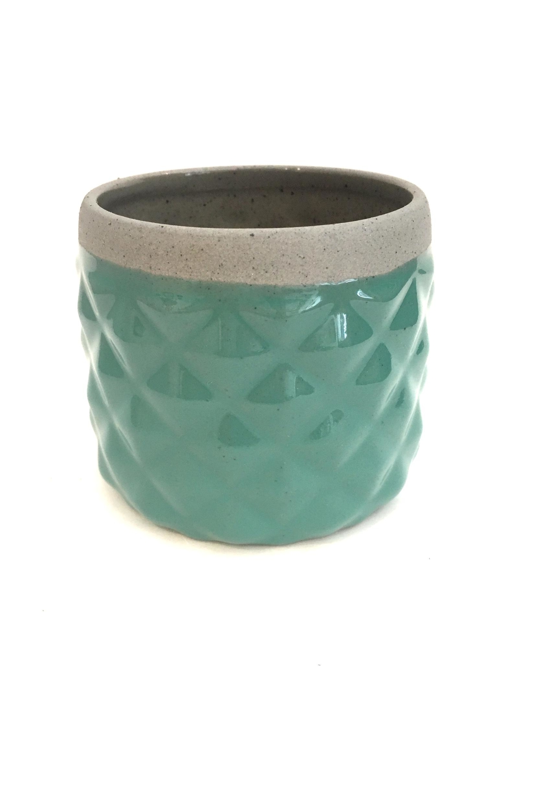 Chive Sage Diamond Planter - Front Full Image