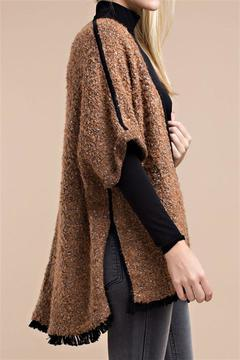 Shoptiques Product: Brown Furry Cardigan