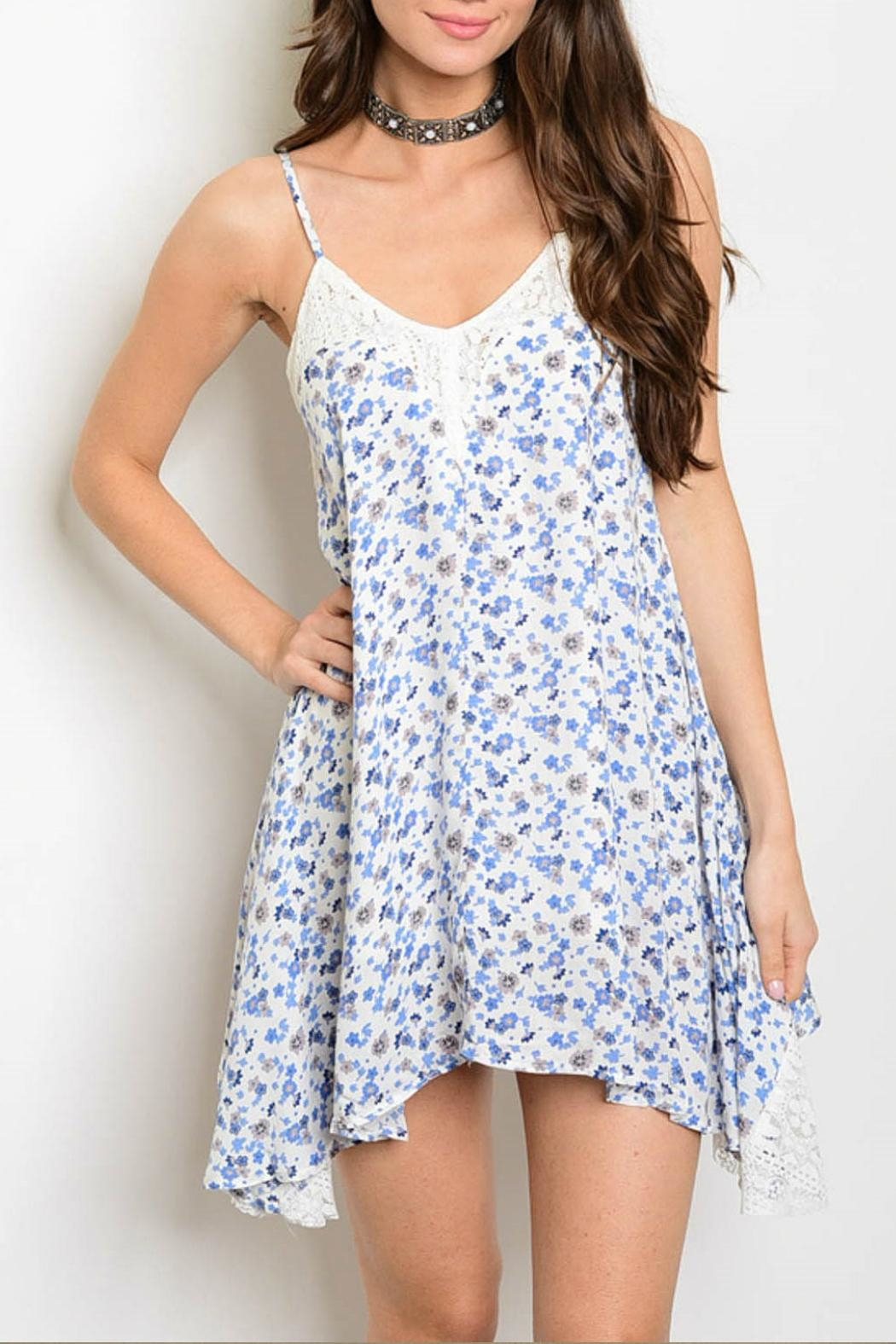 Chlah Blue Floral Dress From Tampa By The Trunk Stylists Shoptiques