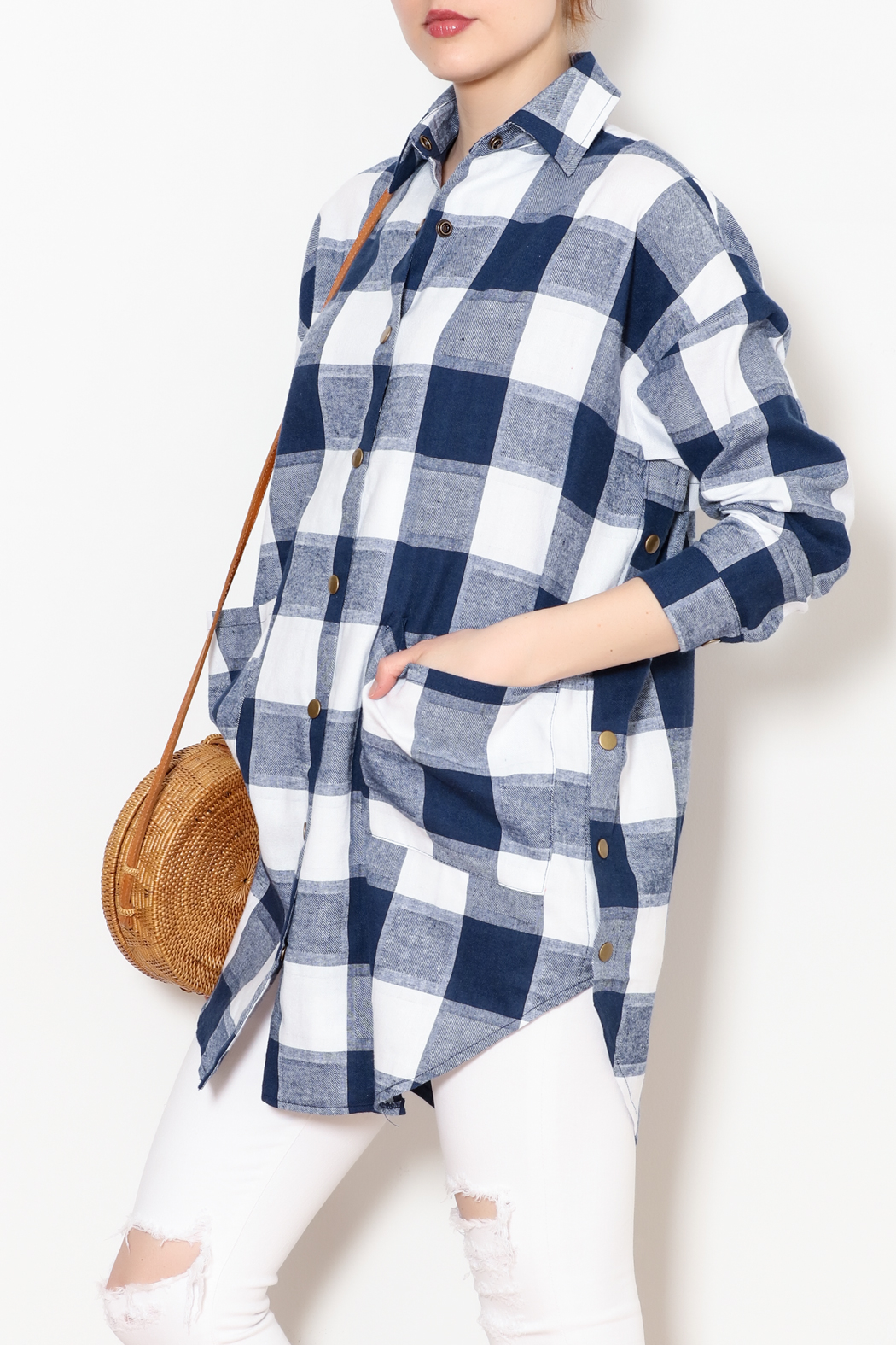 Chloah Checkered Shirt - Front Cropped Image