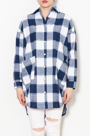 Chloah Checkered Shirt - Front full body