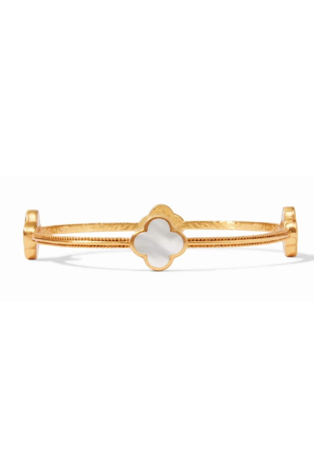Julie Vos Chloe Bangle Gold Mother of Pearl-Medium - Main Image