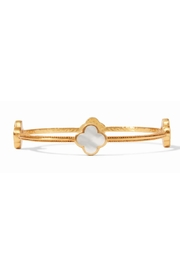 Julie Vos Chloe Bangle Gold Mother of Pearl-Medium - Front cropped