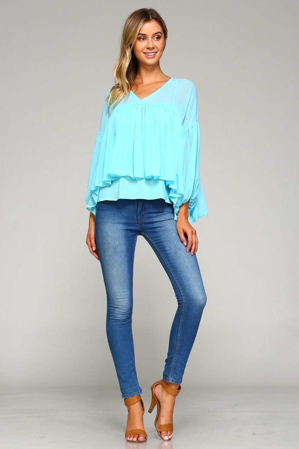 Racine Chloe Chiffon Top - Back Cropped Image