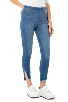 Liverpool  Chloe Cropped Skinny Angled Slit Denim - Product List Image