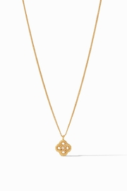 Julie Vos Chloe Delicate Necklace Gold Pearl - Front cropped