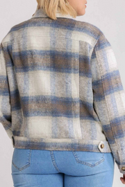 umgee  Chloe Flannel Jacket - Front full body