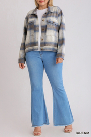 umgee  Chloe Flannel Jacket - Front cropped