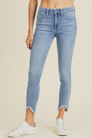 just black Chloe Hi-low Fray - Front cropped