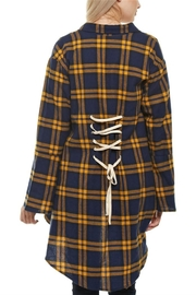 Chloe Plaid Print Jacket - Product Mini Image