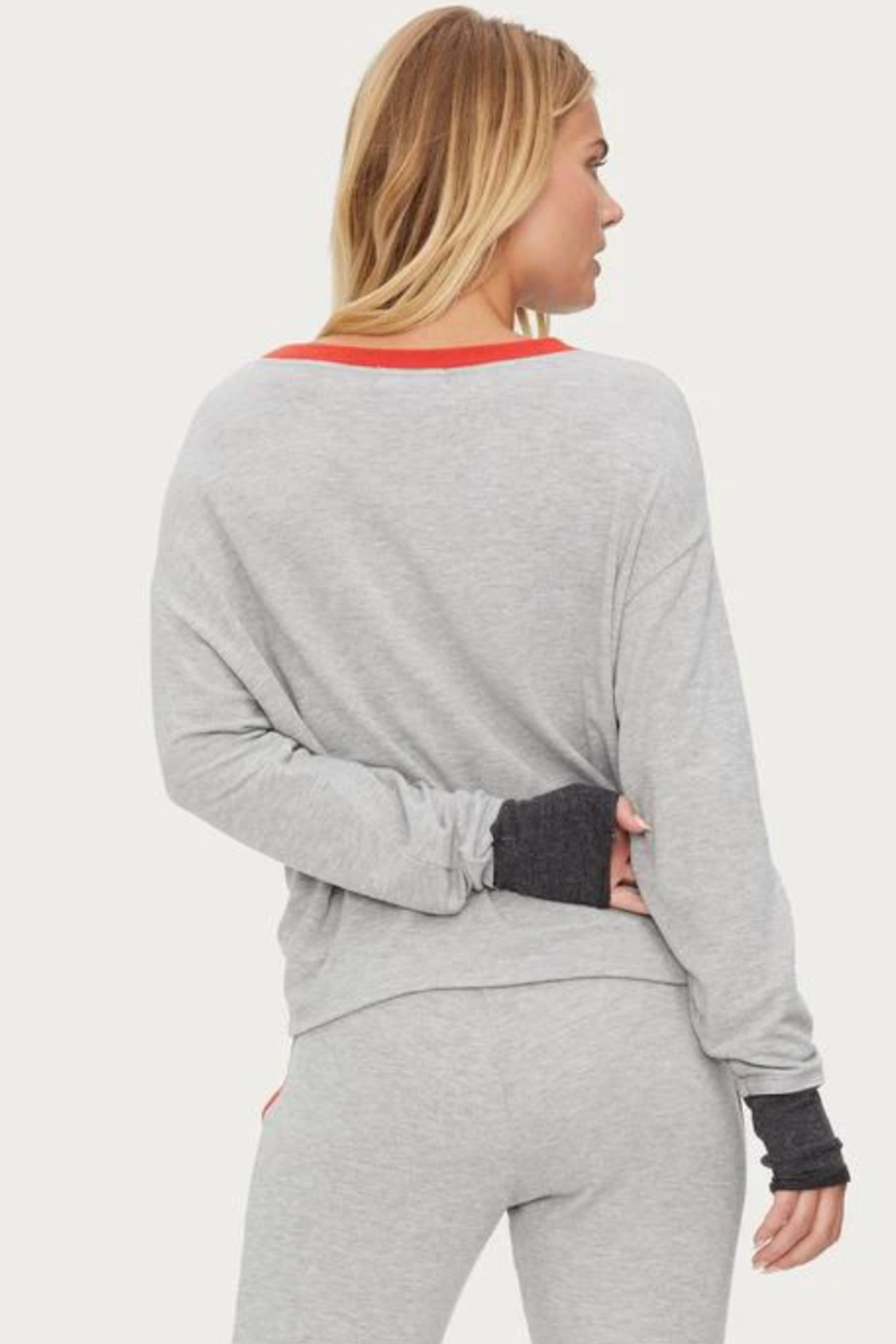 Michael Stars Chloe Scoop Neck Pullover - Back Cropped Image