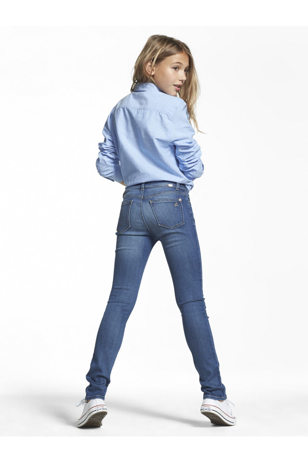 DL1961 Chloe Skinny Youth Jeans Parula - Side Cropped Image