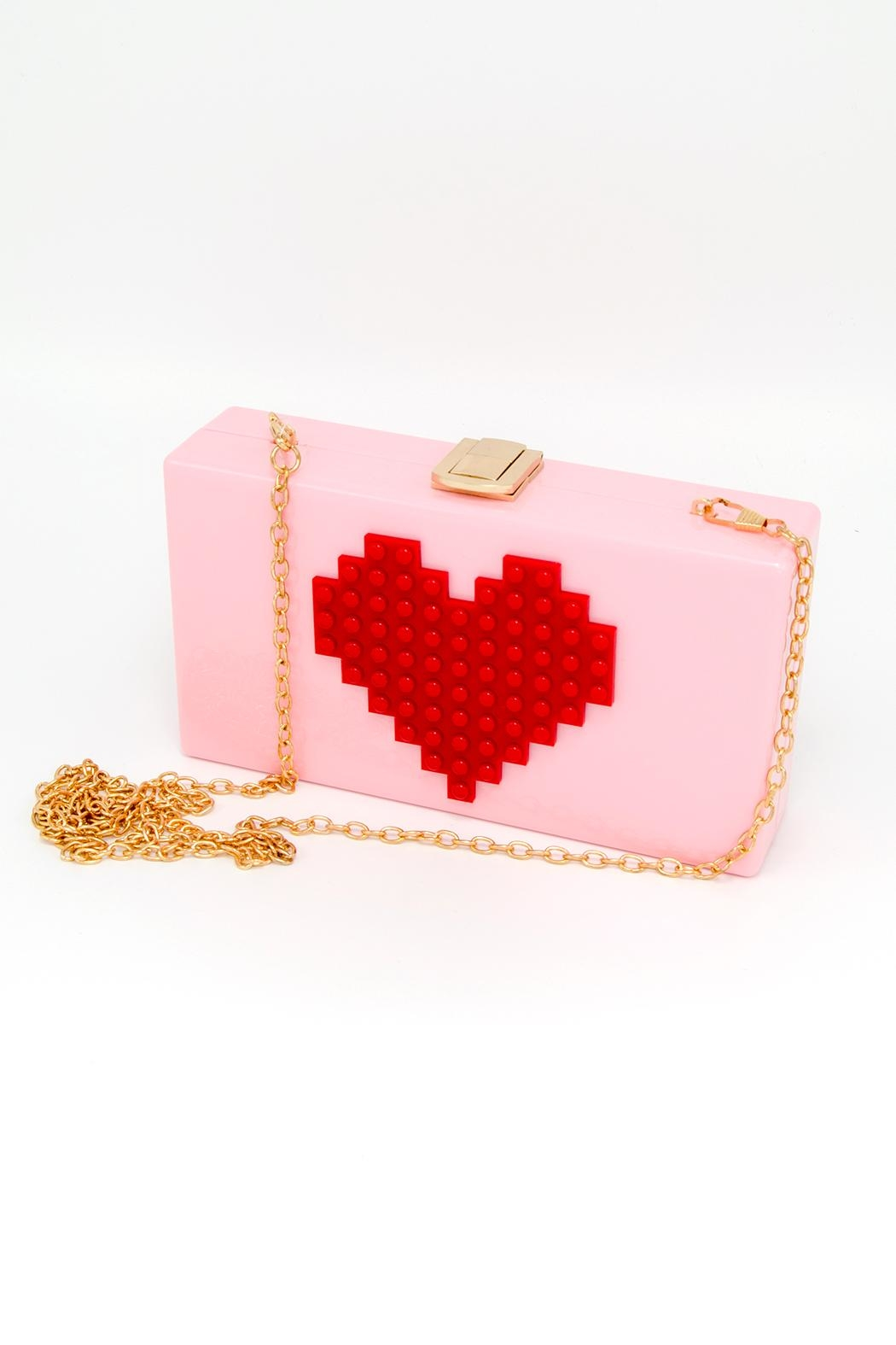 CHLOE K. NEW YORK Heart Clutch Bag - Main Image