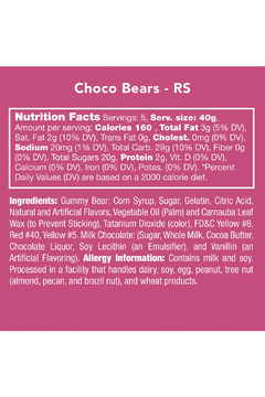 Candy Club Choco Bears - Alternate List Image