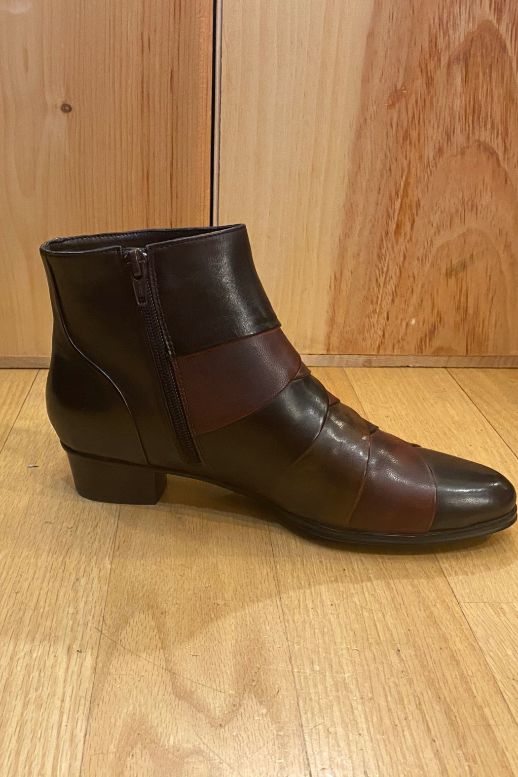 Spring Step  Chocolate brown ankle boot - Front Full Image