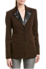 INSIGHT NYC Chocolate Brown Jacket with Black Accents - Product Mini Image
