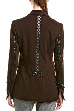 INSIGHT NYC Chocolate Brown Jacket with Black Accents - Alternate List Image