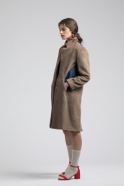 Amall Chocolate/Denim Peacoat - Product Mini Image