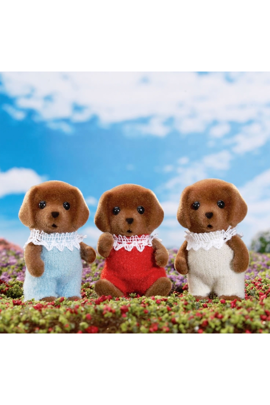 Calico Critters Chocolate Lab Triplets - Main Image