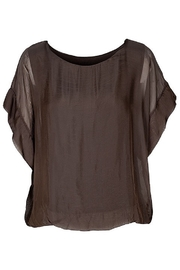 M made in Italy Chocolate Lined S/S Top - Front cropped