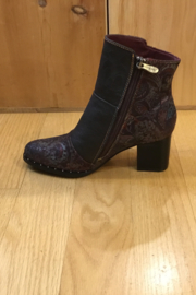 Spring Step  Chocolate multi bootie - Front full body