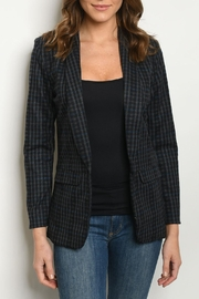 chocolate Navy Plaid Blazer - Product Mini Image