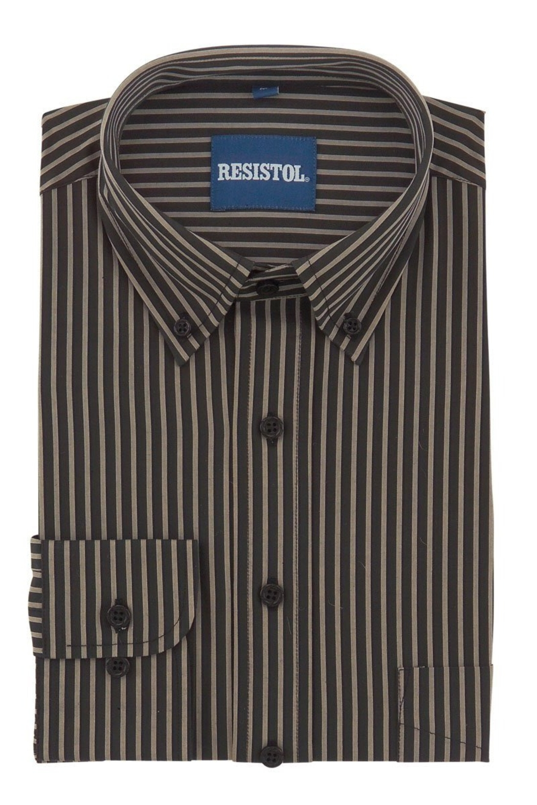 Resistol Chocolate Stripe Button Up - Front Full Image