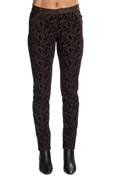 INSIGHT NYC Chocolate Wallpaper Flocked Pants - Product List Image