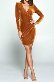 chocolate usa Mock-Wrap Corduroy Dress - Product Mini Image