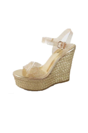 Bamboo Choice-93 Wedge Sandal - Front cropped
