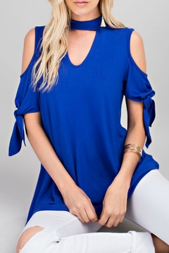 Shoptiques Product: Choker Cold-Shoulder Tee