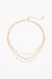 Nakamol Choker Gold 3 layer - Product Mini Image