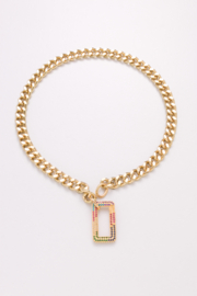 Nakamol Choker Gold W/ Multi Color Pendant - Product Mini Image