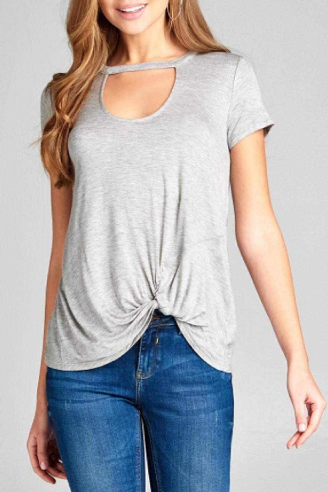Active Basic Choker Tee - Front Cropped Image