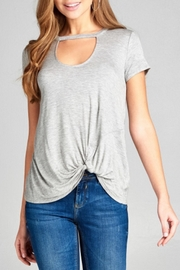 Active Basic Choker Tee - Front cropped