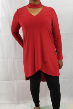 Picadilly Choker V-Neck Tunic - Product List Image
