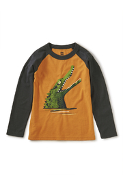 Tea Collection Chomp Raglan Graphic Tee - Front cropped