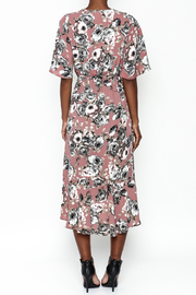 Chris & Carol Mauve Floral Dress - Back cropped