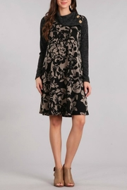 Chris & Carol Black Floral Dress - Product Mini Image