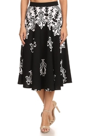 Chris & Carol Black-White Design Skirt - Product Mini Image
