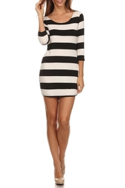 Chris & Carol Black/white Stripe Tunic - Product Mini Image