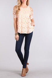 Chris & Carol Blushing Rose Top - Back cropped