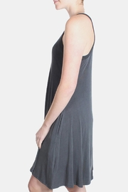Chris & Carol Charcoal Ribbed Dress - Back cropped