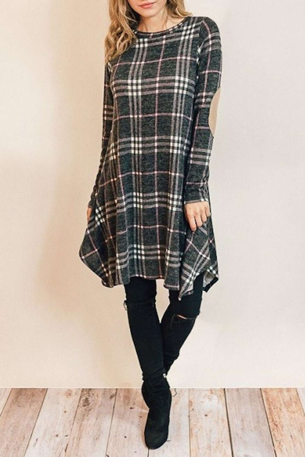Chris & Carol Classic Plaid Dress - Front Cropped Image