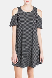 Chris & Carol Cold Shoulder Striped Dress - Front full body