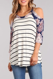 Chris & Carol Colorful Multi-Printed Top - Front cropped